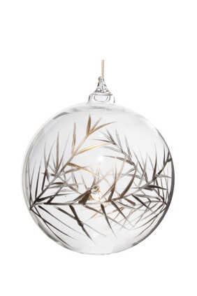 Glass Bauble With Leaf