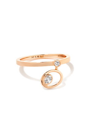 Rock Blossom Oval Charm Diamond Ring in 18kt Rose Gold