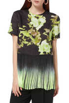 Floral Print Fringed T-Shirt
