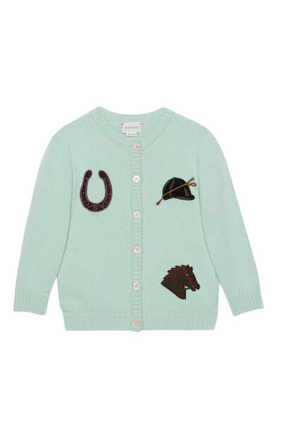 Horse Patch Wool Cardigan