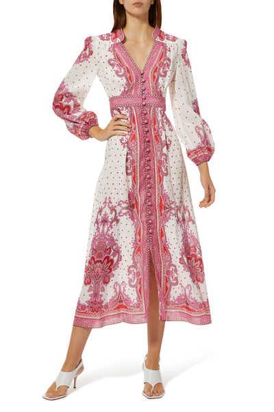 Bells Paisley Linen Dress