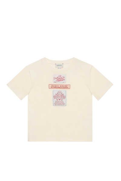 Logo Labels Cotton T-Shirt