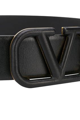 VLogo Leather Belt