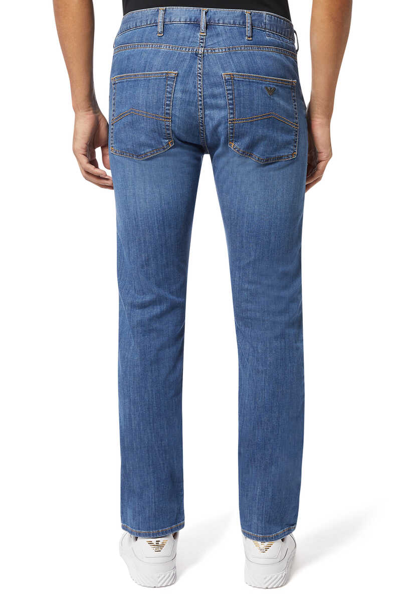 Medium Wash Regular Fit Jeans image number 3