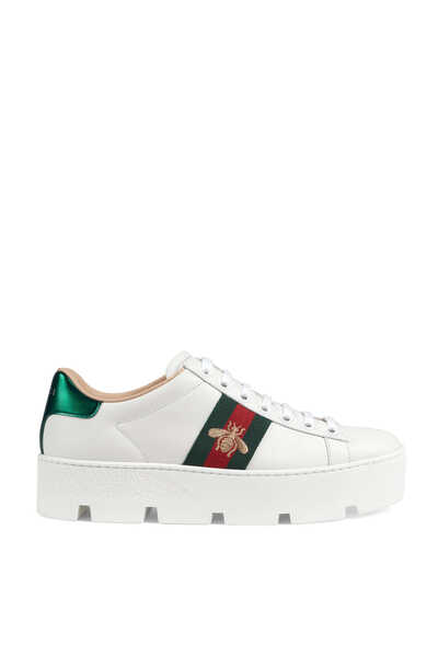 Ace Embroidered Platform Sneakers