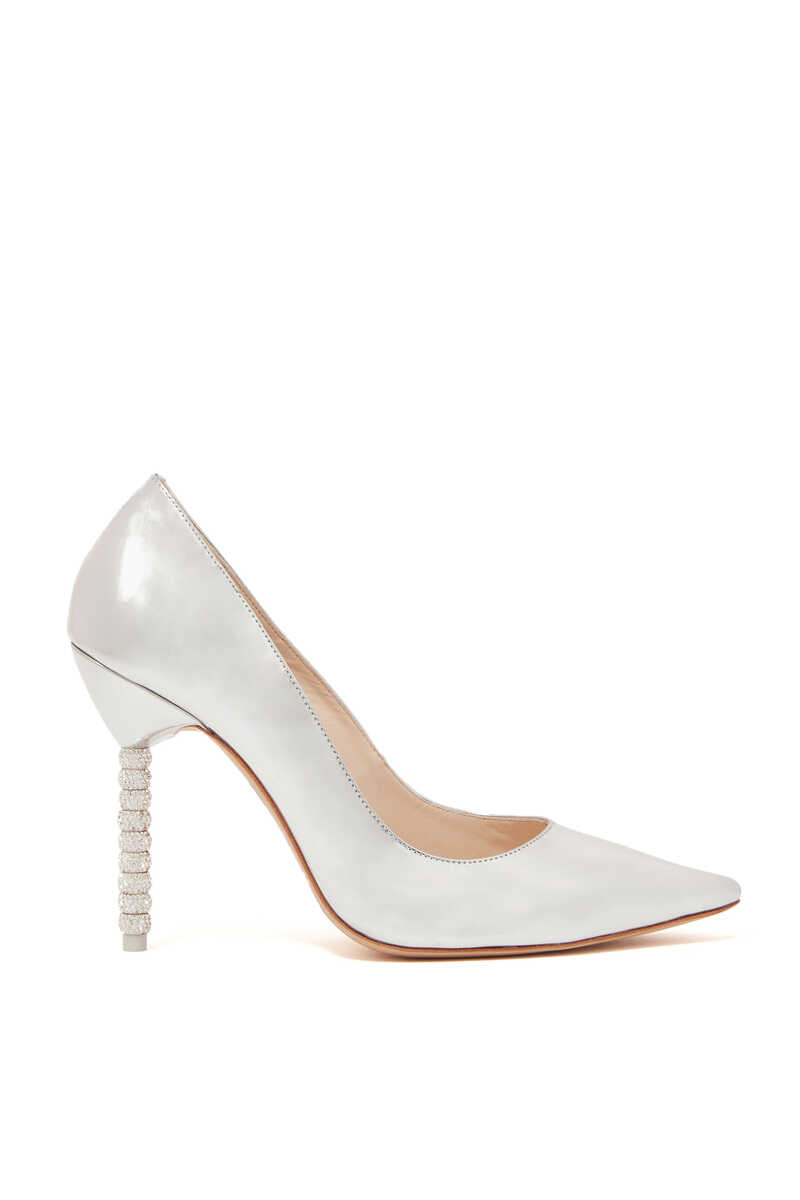 Silver Coco Crystal Pumps image thumbnail number 1