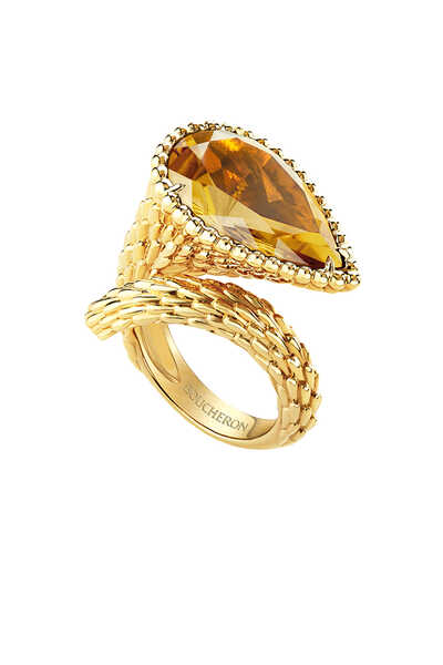Serpent Bohème Large Citrine Ring