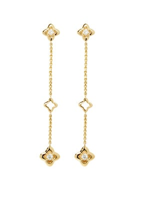Three Station Drop Earrings