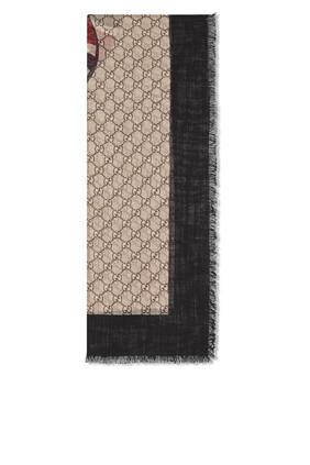 Web and Kingsnake Wool Scarf