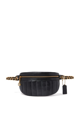 Quilted Chain Belt Bag