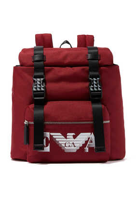 Macro Eagle Logo Backpack in Techno Fabric