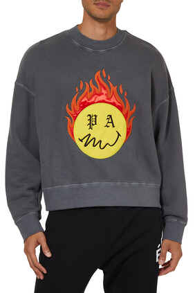 Burning Head Logo Sweatshirt