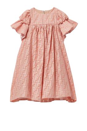 JG AOL PRINT DRESS:Pink :4Y