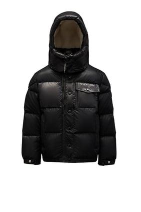 Contrast Collar Puffer Jacket