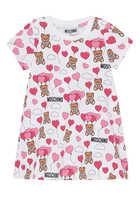 Teddy & Balloon Print Dress