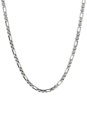 Open Station Box Chain Necklace