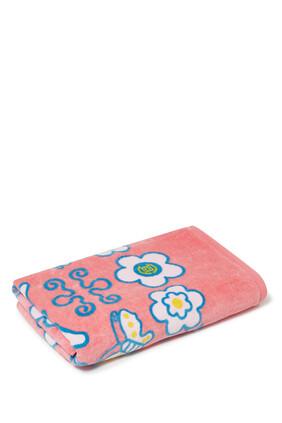 Chinese Print Bath Towel