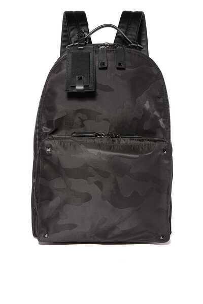 Valentino Garavani Camo-Print Jacquard Backpack