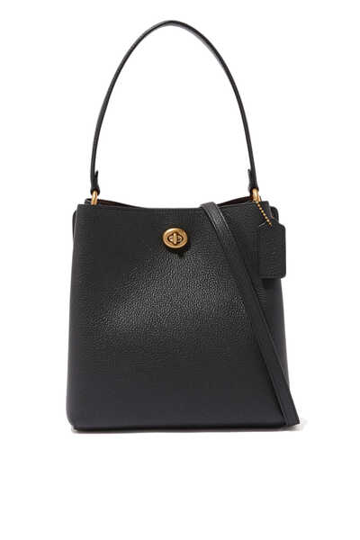 Charlie 21 Pebble Leather Bucket Bag