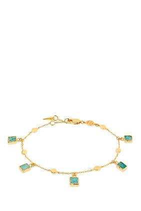 Amazonite Lena Bracelet in 18kt Gold-Plated Sterling Silver