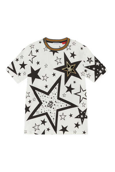 Jersey T-shirt with Star Print