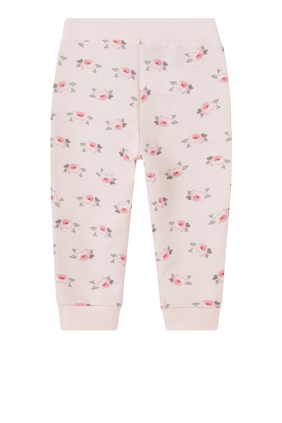 Rose Print Sweatpants in Cotton