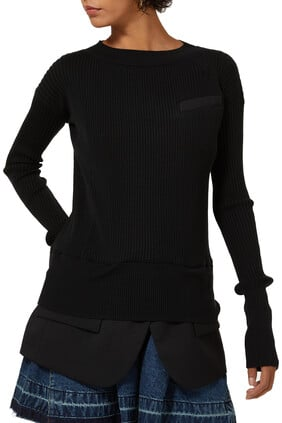 Knit Suiting Pullover Sweater