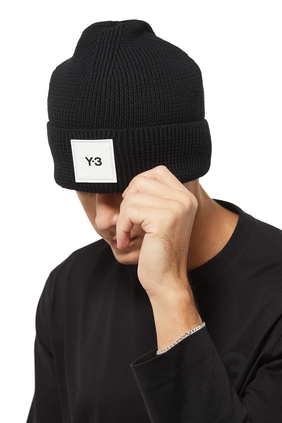 Y-3 BEANIE:BLK:One Size