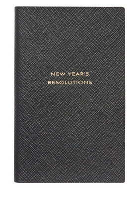 """New Year's Resolution"" Panama Notepad"
