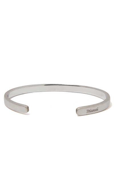 Single Cuff Silver Bracelet