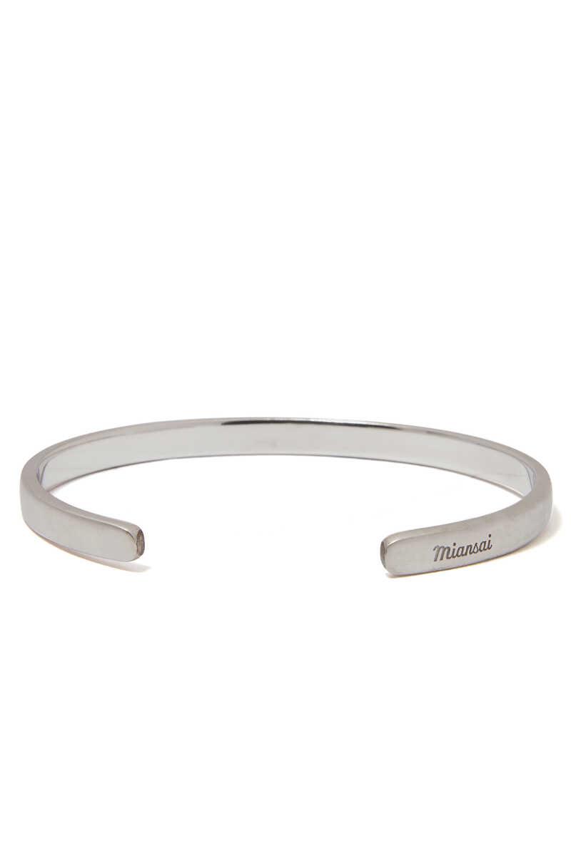 Single Cuff Silver Bracelet image number 1