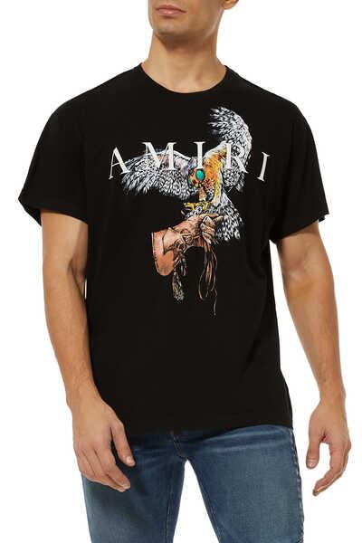 Falcon Logo Cotton T-Shirt
