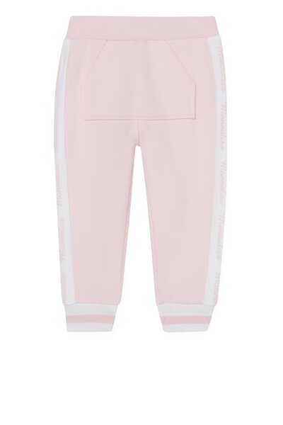 Embroidered Striped Track Pants