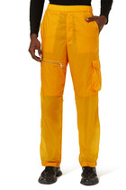 Zip-detail Wide Cargo Trousers