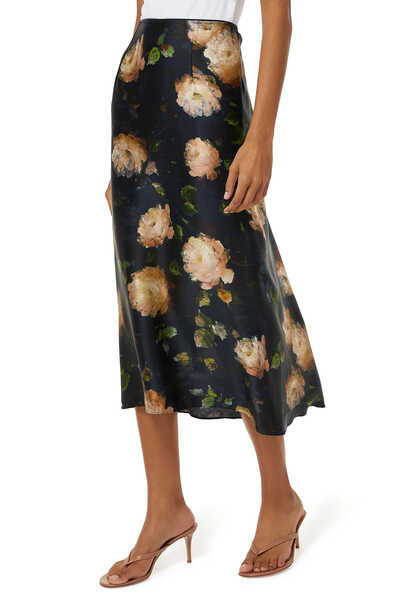 Rose Printed Slip Skirt