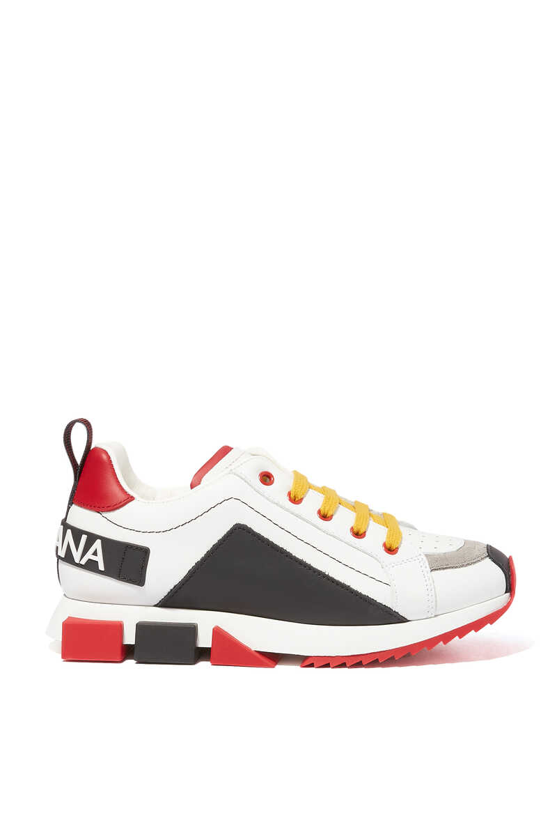 Multi-Color Leather Sneakers image number 1