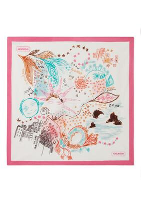 Dream Doodle Print Bandana