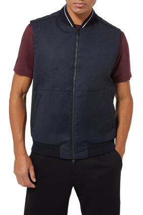 Tonal Zip-Up Gilet