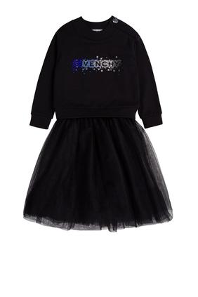 Cotton Logo Dress