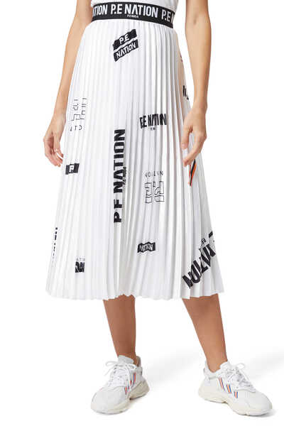 Refresh Pleated Midi Skirt