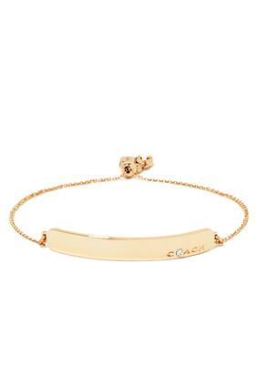 Crystal-Set Bar Slider Bracelet