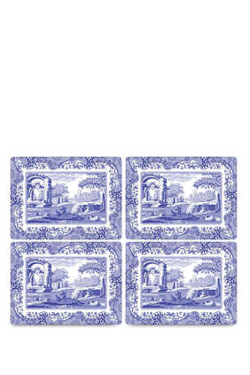Pimpernel Blue Italian Placemats, Set of 4