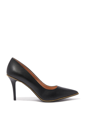 Waverly Beadchain Leather Pumps