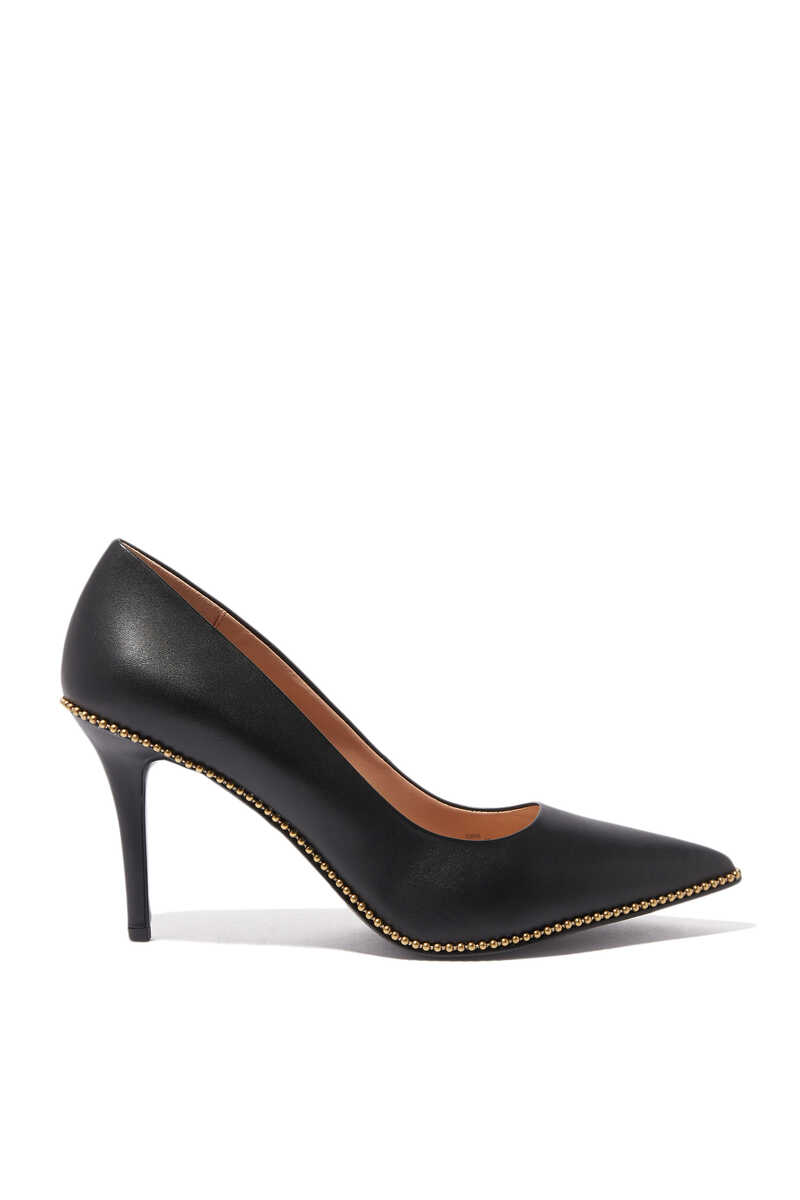 Waverly Beadchain Leather Pumps image number 1