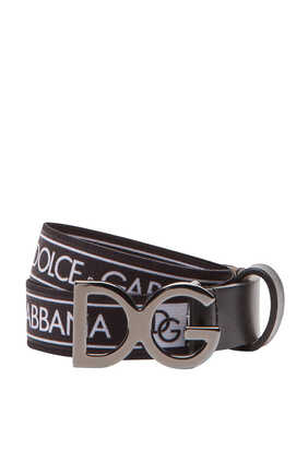 Logo Stretch Tape Belt
