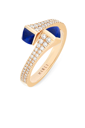Cleo Diamond Wrap Ring in 18kt Yellow Gold
