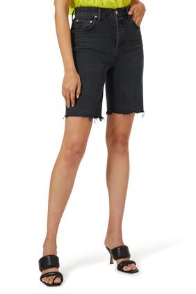 High-Rise Denim Shorts