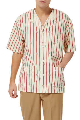 Double G Stripe Bowling Shirt