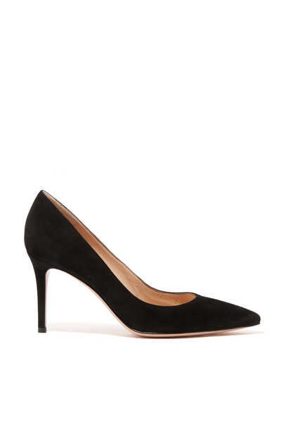Suede Point Toe Pump