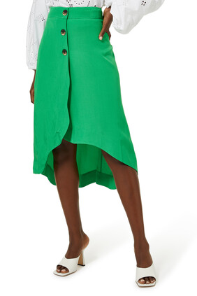 Ripstop Asymmetric Skirt